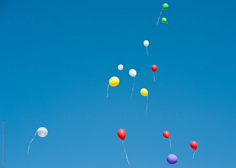 Colorful balloons by Svetlana Shchemeleva for Stocksy United
