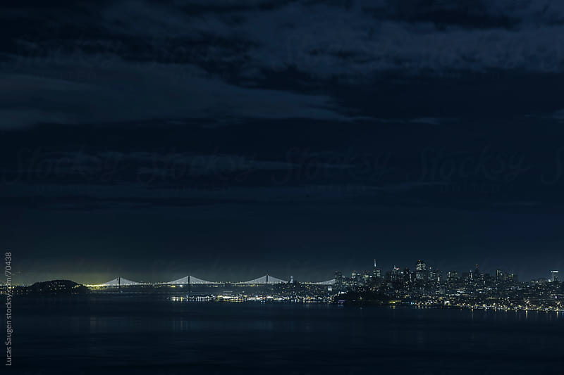 The San Francisco Bay at Night by Lucas Saugen for Stocksy United