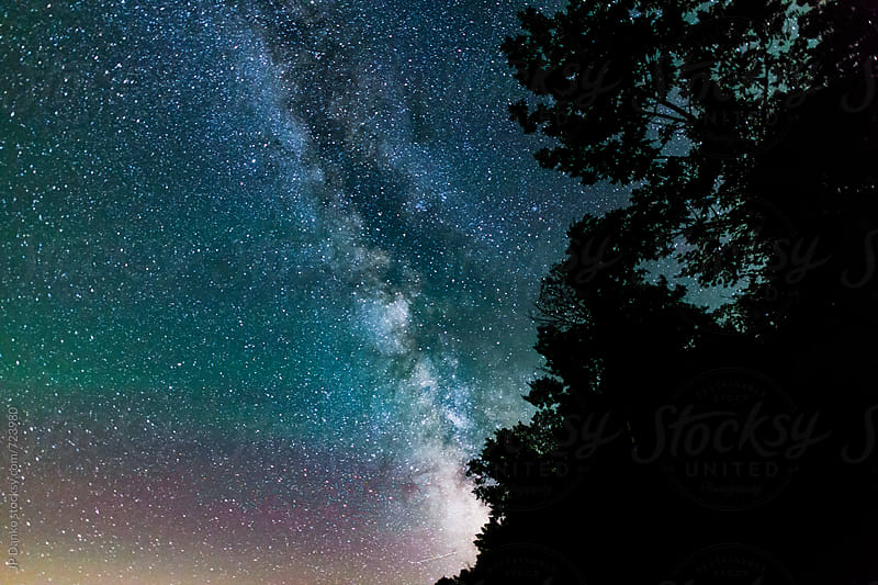 The Milky Way During the Perseids Meteor Shower in August by JP Danko for Stocksy United