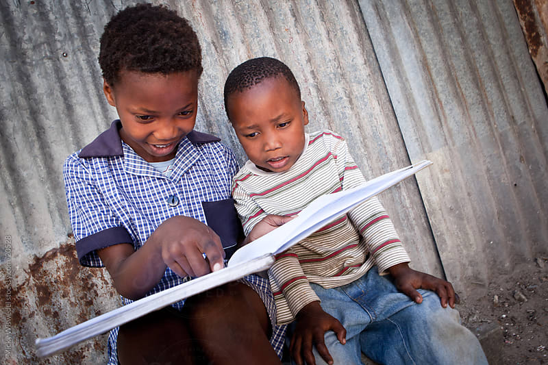 African Kids Studying by Micky Wiswedel for Stocksy United