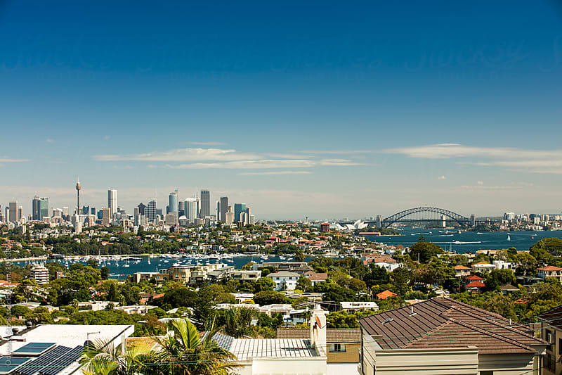 Sydney Harbor Cityscape by Odyssey Stock for Stocksy United