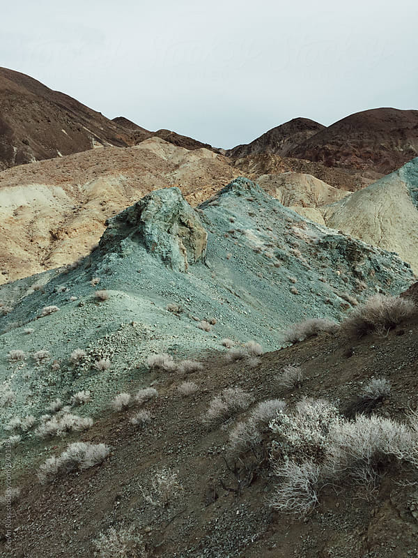 Rainbow Rocks in Death Valley by Kevin Russ for Stocksy United