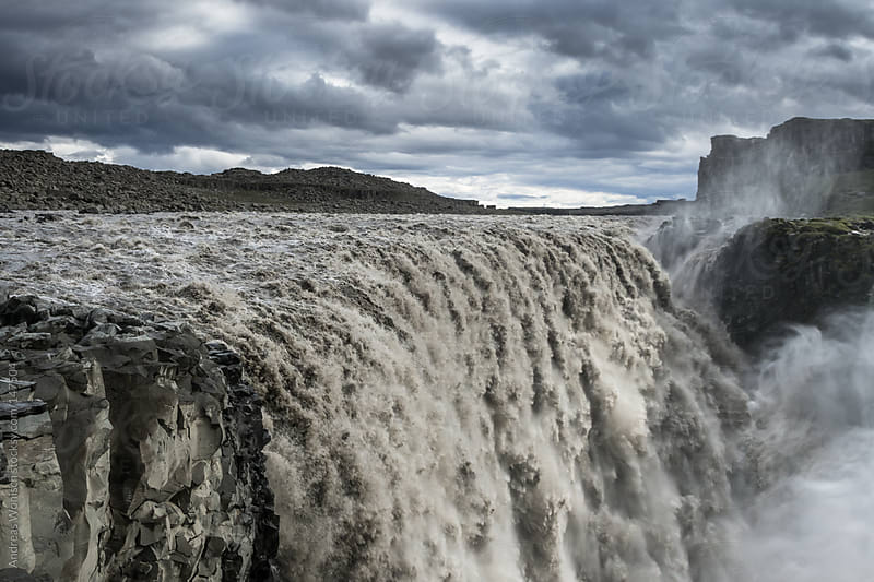 Powerful Dettifoss Waterfall in Iceland by Andreas Wonisch for Stocksy United