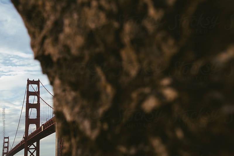 Golden Gate Bridge from below by Carl Zoch for Stocksy United