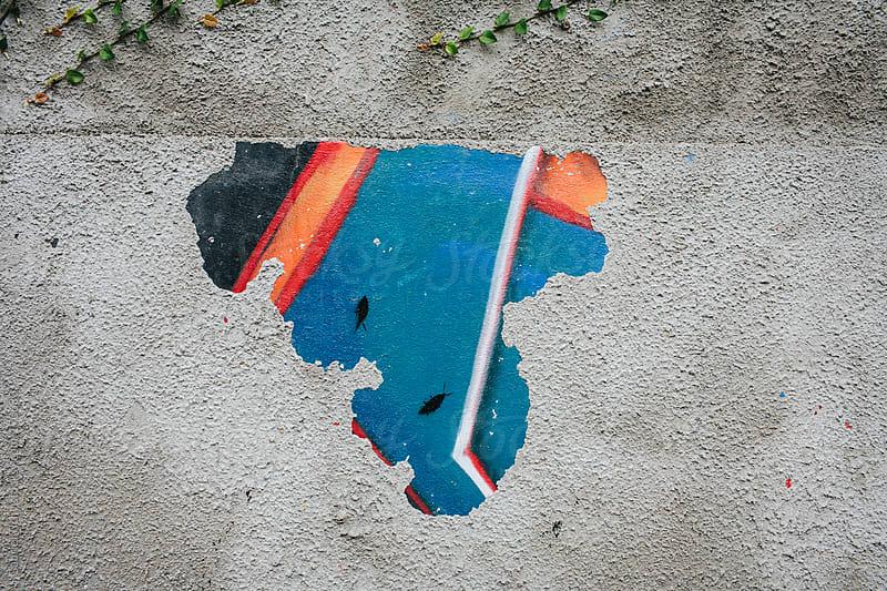 Graffiti on a wall by Gabriel Tichy for Stocksy United