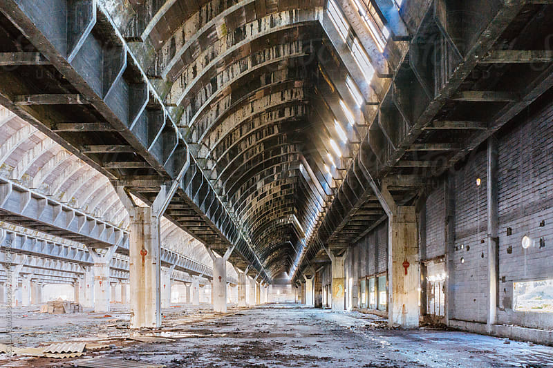 Abandoned factory as a result of the crisis by ACALU Studio for Stocksy United