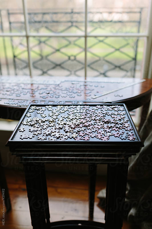 Jigsaw Puzzle on a Table by HEX . for Stocksy United
