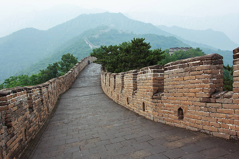the great wall of China by zheng long for Stocksy United