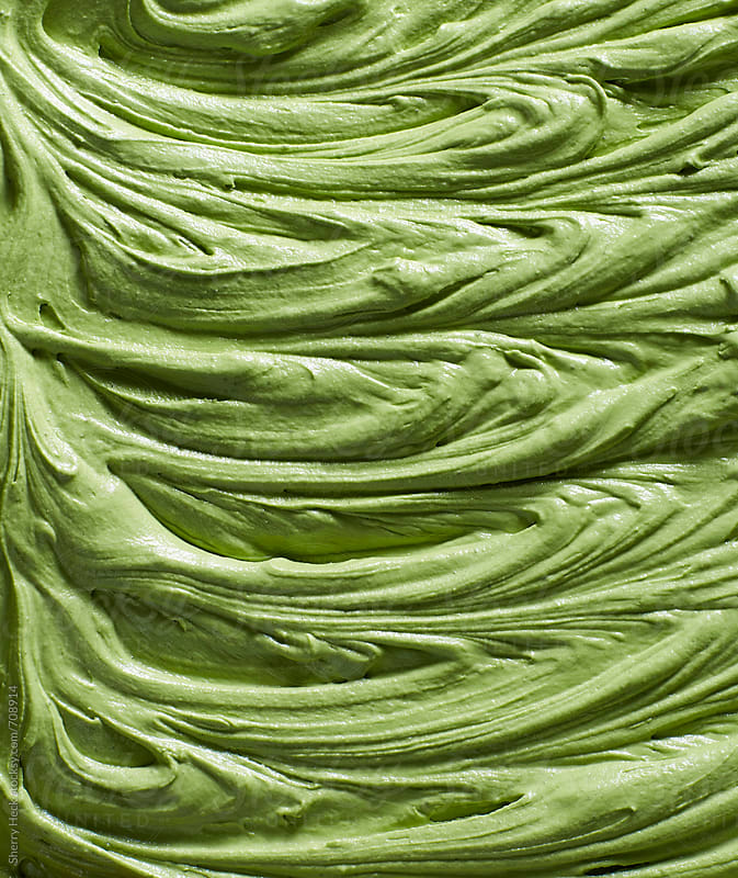 Green Tea Matcha infused frosting swirls by Sherry Heck for Stocksy United