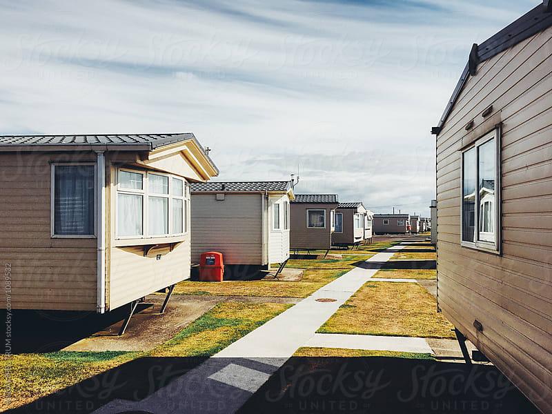 Caravans Parked at British Seaside Resort by Julien L. Balmer for Stocksy United