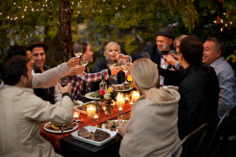 Outdoor Dinner Party by Jill Chen for Stocksy United