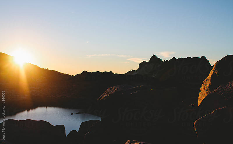 Sunrise in the Enchantments by Jesse Morrow for Stocksy United