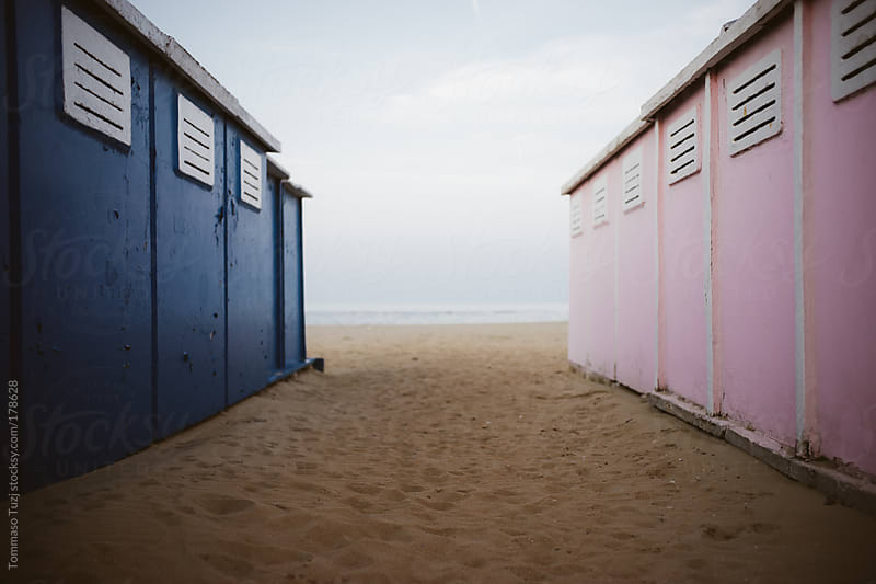 Beach cabins by Tommaso Tuzj for Stocksy United