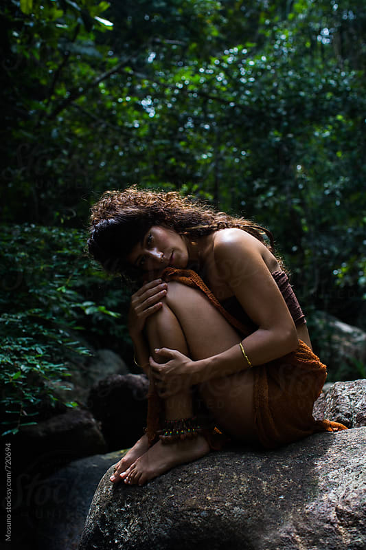 Attractive Woman Posing in the Jungle by Mosuno for Stocksy United