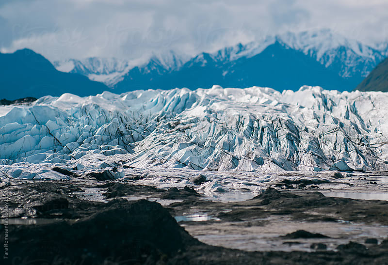 The face of Matanuska Glacier in Alaska, USA by Tara Romasanta for Stocksy United