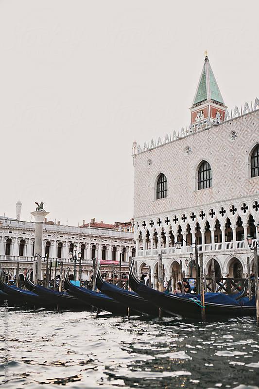 Gondola's of Venice by Kara Mercer for Stocksy United
