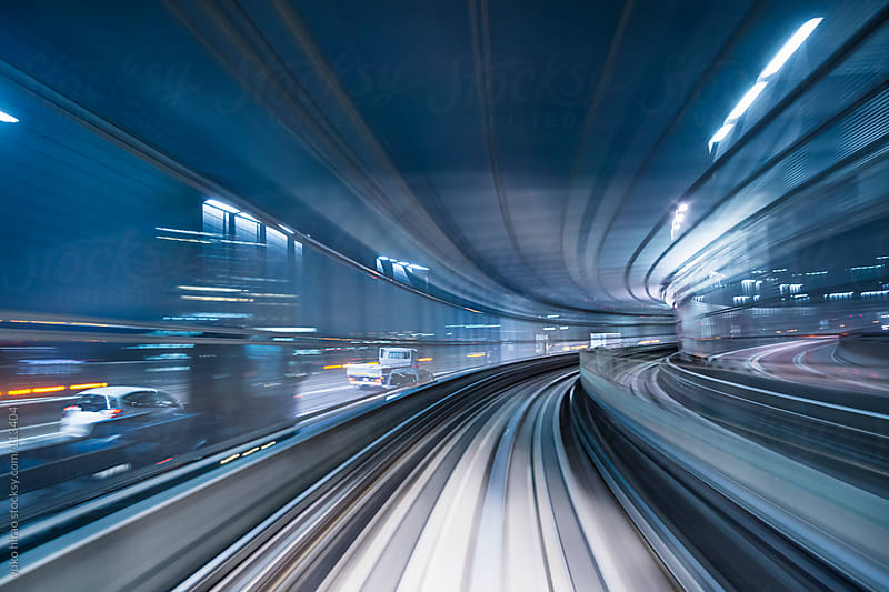 Speed and motion in tunnel by yuko hirao for Stocksy United
