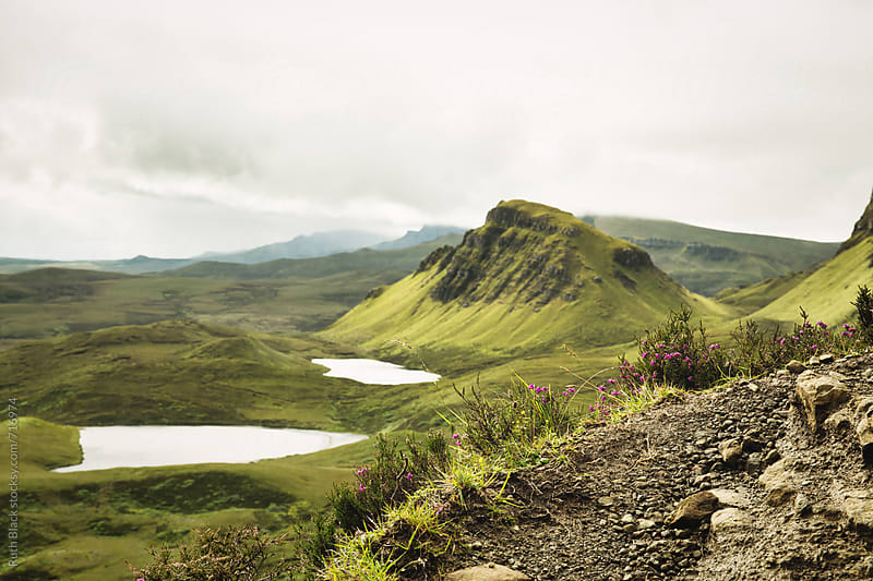 View from the Quiraing, Trotternish Ridge, Isle of Skye in Scotland by Ruth Black for Stocksy United