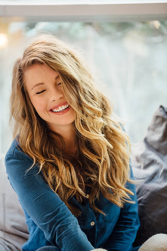 Portrait of beautiful young woman by Trinette Reed for Stocksy United