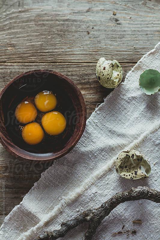 Quail eggs by Tatjana Zlatkovic for Stocksy United