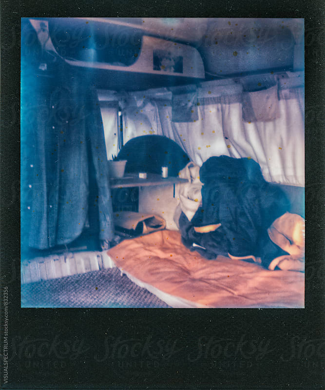Shabby Polaroid of Camper Van Interior by Julien L. Balmer for Stocksy United
