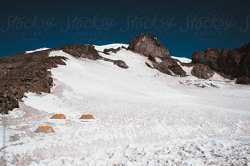Camp Muir/Summit Campground on Mount Rainier National Park by michelle edmonds for Stocksy United