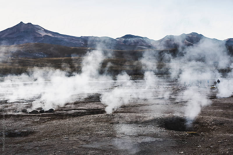 El Tatio, a geyser field located in the North of Chile.  by Mauro Grigollo for Stocksy United