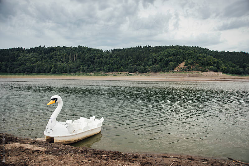 Objects: White Swan Pedal Boat at a lake by Ina Peters for Stocksy United