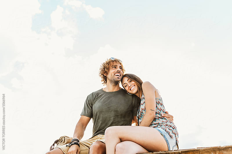 Affectionate Young Beautiful Couple Having Fun Outdoors by Victor Torres for Stocksy United