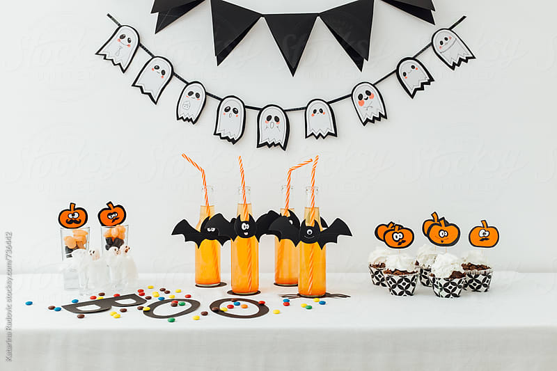 Halloween DIY Party Decoration with Food and Drink  by Katarina Radovic for Stocksy United