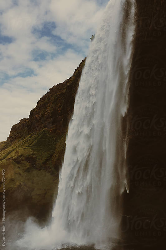 Waterfall in Iceland by Dylan M Howell Photography for Stocksy United