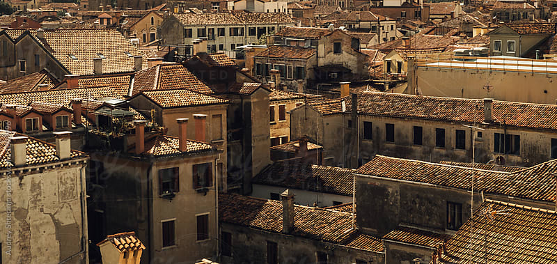 Old house roofs look form above.Venice /Italy by Marko Milanovic for Stocksy United