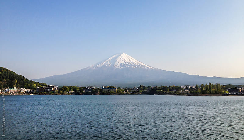 Mt Fuji Set In Blue by Leslie Taylor for Stocksy United