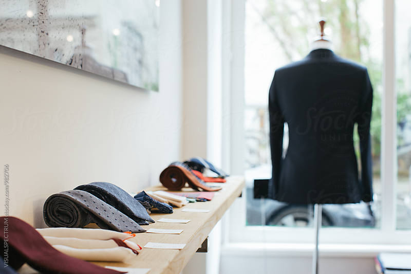 Men's Fashion Store - Ties on Display by VISUALSPECTRUM for Stocksy United