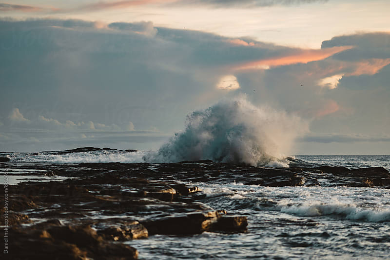 Crashing Wave on Rocks in Nicaragua by Daniel Inskeep for Stocksy United
