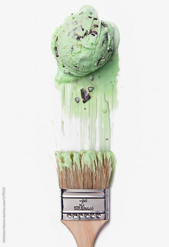 Ice cream paint job by Nicholas Moore for Stocksy United
