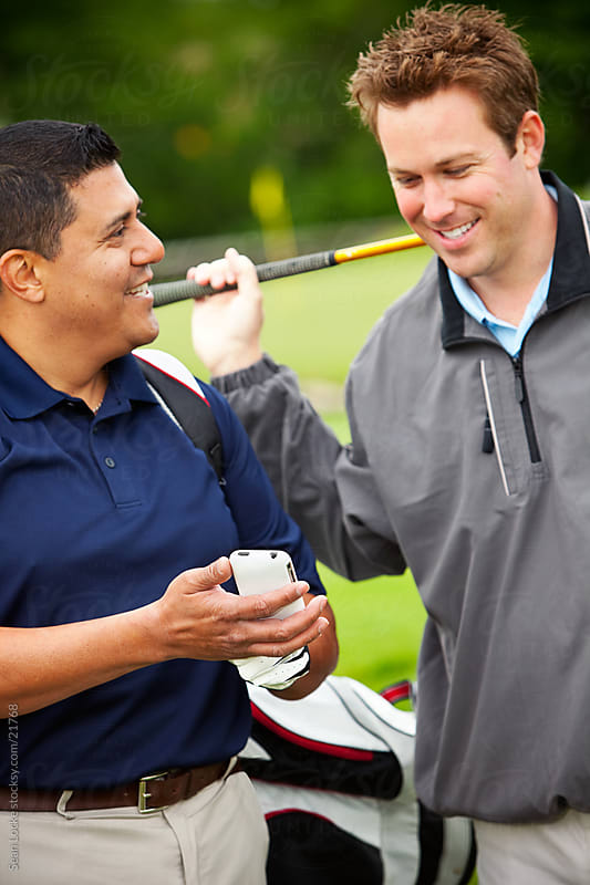 Golf: Focus on Cell Phone by Sean Locke for Stocksy United