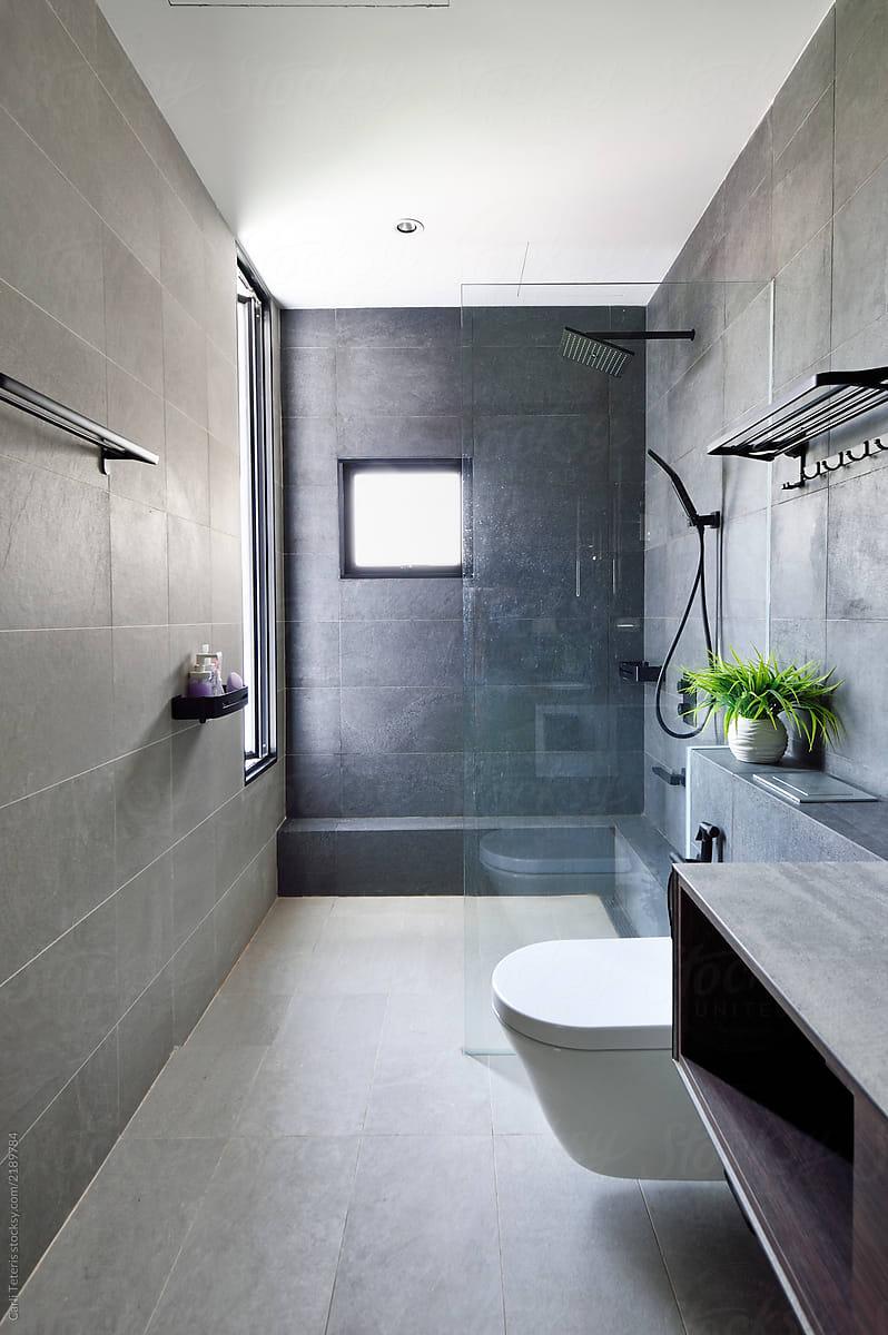 . Stock Photo   Beautifully Designed Home Washroom