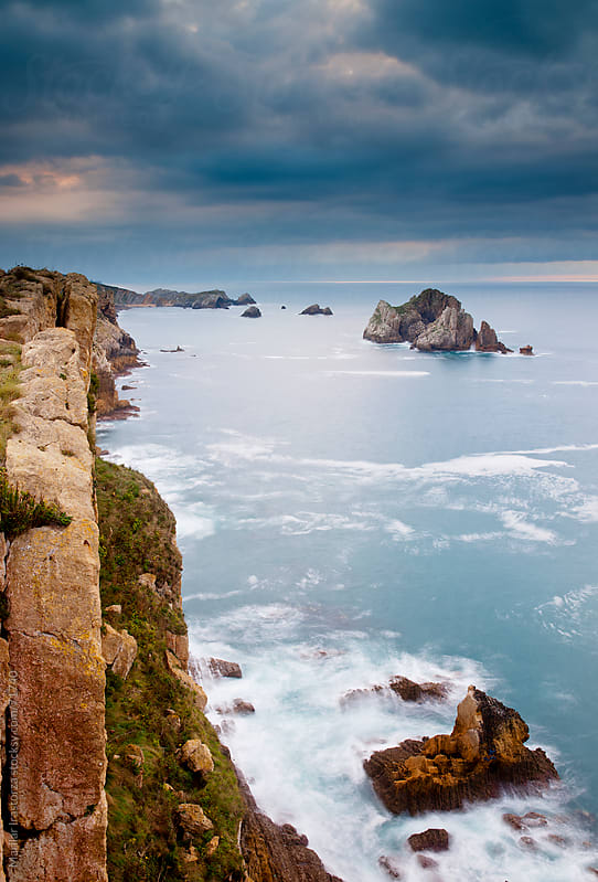 View of the coast of Cantabria and the Bay of Biscay, in northern Spain by Marilar Irastorza for Stocksy United