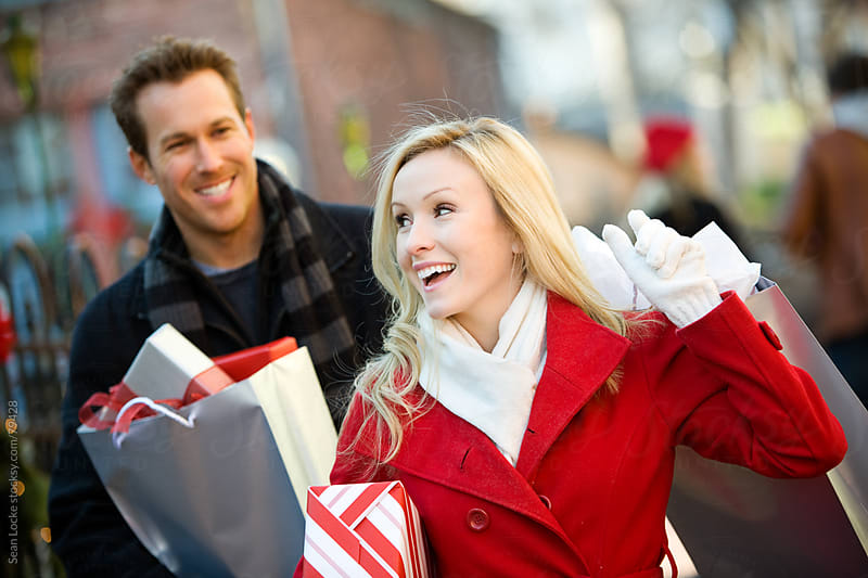 Christmas: Heading Home with Christmas Shopping Done by Sean Locke for Stocksy United
