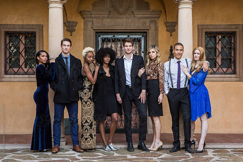 Group of Wealthy Young People by Jayme Burrows for Stocksy United