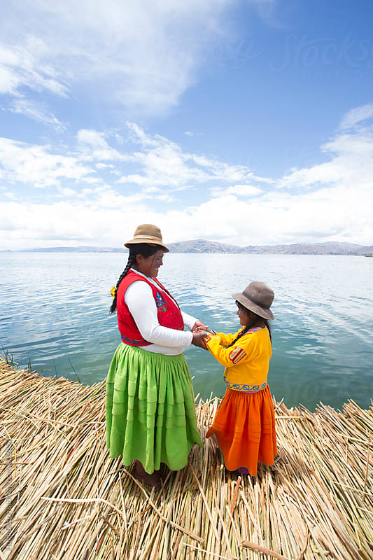 Mother and Daughter. Lake Titicaca. Peru. by Hugh Sitton for Stocksy United