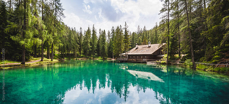 Clean Alpine Lake in the Woods, Italian Alps by Giorgio Magini for Stocksy United
