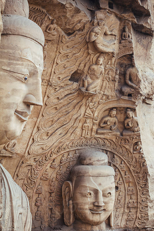 The Yungang Grottoes by zheng long for Stocksy United
