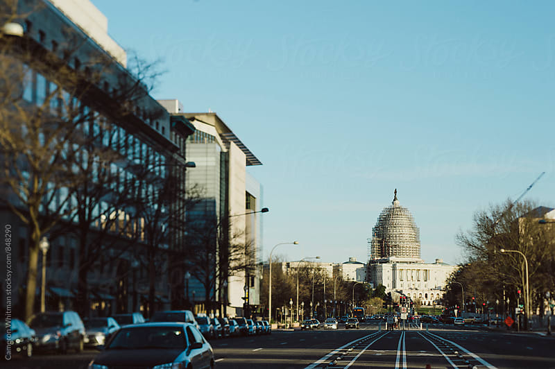 Pennsylvania Avenue with the US Capitol Building  by Cameron Whitman for Stocksy United