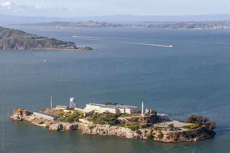 Aerial of Alcatraz  by James Tarry for Stocksy United