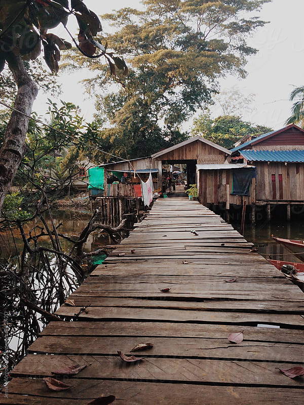 Tropical fishing village in Cambodia by Jesse Morrow for Stocksy United