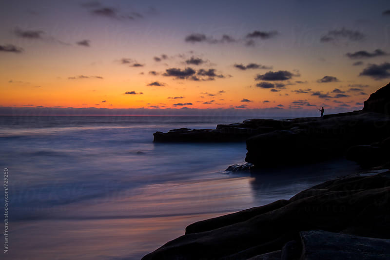 La jolla Sunset by Nathan French for Stocksy United