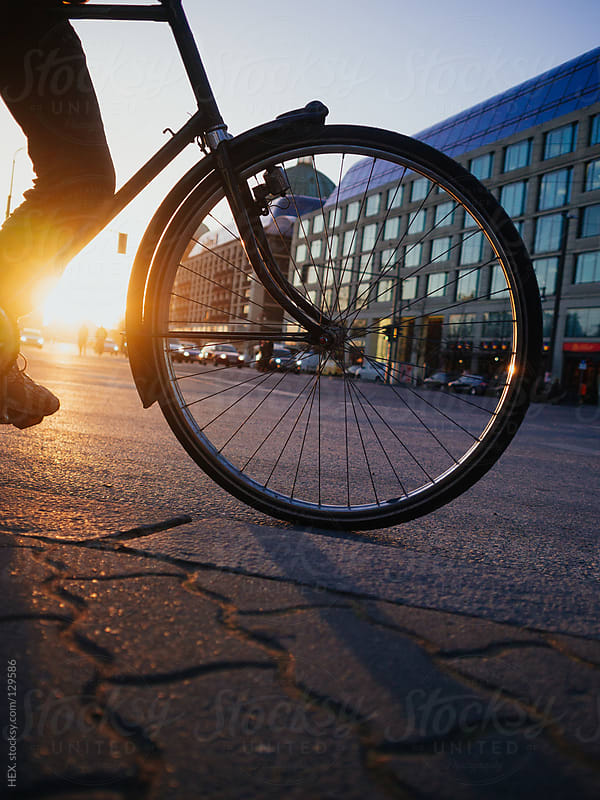 Bike in Backlight. City Life by HEX. for Stocksy United