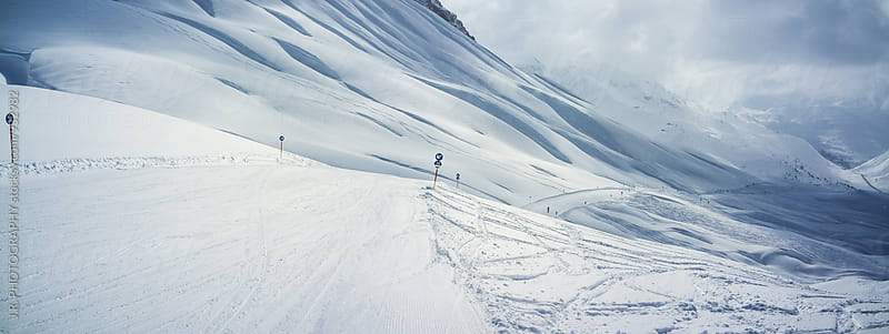 Ski slope. Lech, Austria by J.R. PHOTOGRAPHY for Stocksy United